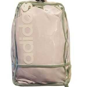 Adidas Transparent Backpack with Exposed Zipper